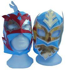 WWE Sin Cara & Kalisto Light Blue Wrestling Masks Pair Lucha Dragons