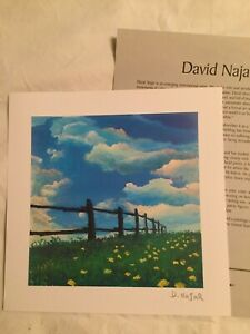Park West Seriolithograph by Israeli Expressionist David Najar,Fence Line with C