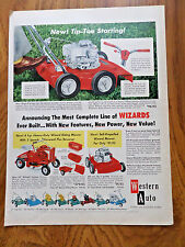1958 Western Auto Lawn Mowers Tractors Ad   Wizards