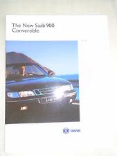 Saab 900 Convertible range brochure 1994