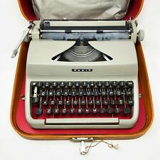VTG FACIT TP1 Portable Manual Typewriter w/ DUST COVER CASE & KEY, Sweden 1960s