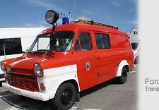 Postkarte  > OLDTIMER <   Ford  Transit < Feuerwehr