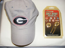 Vintage Georgia Bulldogs Cap and Georgia. Bulldogs 24kt Gold Plated Divot Tool