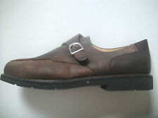 NIB ASHWORTH MEN'S Men's Adjustable Strap Brown Leather/Nubuck Shoes Size 13