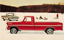 Ford Pickup Truck 1972 Advertising Vintage Postcard (J13984)