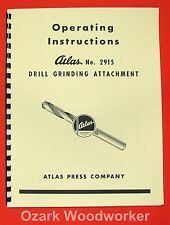Atlas 2915 Drill Grinding Attachment Instruction & Parts Manual 0022