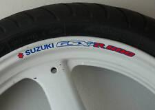 8 X SUZUKI GSXR 600 jante de roue Stickers autocollants-K1 K2 K3 K4 K5 K6 K7 K8 K9 GSX R