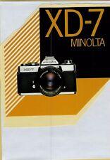 ADESIVO STICKER VINTAGE  xd-7 minolta