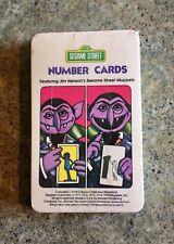 Vintage 1978 Sesame Street Number Flash Cards - New Sealed