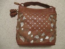 Isabella Fiore Beaded Sequined Tassel Handbag  Large Hobo