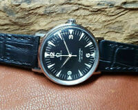 USED VINTAGE OMEGA DE VILLE BLACK DIAL AUTOMATIC MAN'S WATCH