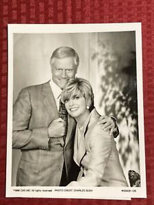 Larry Hagman Linda Gray 7x9 CBS Press Photo Dallas: JR Returns Airdate 11/15/96