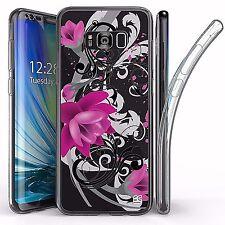 For Samsung Galaxy S8 Plus,Tri Max Transparent Full Body Case Cover LOTUS