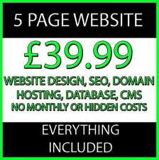 5 Pages Website Web Design Personal or Business