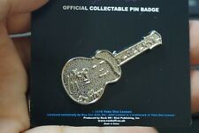 "Collectible Music Pins - John Lennon ""Peace Love"" Guitar Pin - Official Pin 2010"