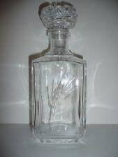 carafe a liqueur / whisky , cristal d'arques model épi Fleury , jamais servi