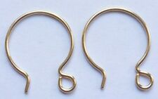 Gold Filled Hoop Earrings with Open Ring Circular Earring Findings Supplies