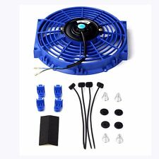 "10"" inch Universal Slim Fan Push Pull Electric Radiator Cooling 12V Mount Kit BU"