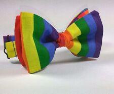 Rainbow Print Pride Pre-tied Bow Tie - Handmade