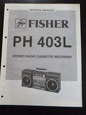 ORIGINALI service manual Fisher STEREO CASSETTE PLAYER ph-403l