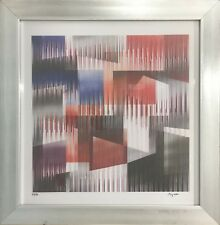 Untitled Original Yaacov Agam (Framed Abstract Contemporary Art)