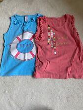 Girls T-shirt Vest Tops Summer Age 7 Gymboree Bundle Vgc