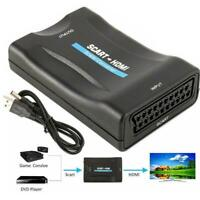 HD 1080P SCART To HDMI Video Audio Upscale Converter DVD Adapter L0Z1