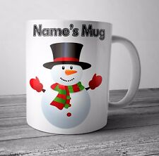 Personalised Mug / Cup - Snowman - Christmas Gift / Secret Santa  - Any NAME