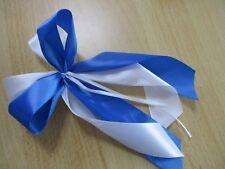 große voluminöse Dekoschleife, blauweiß für Schultüte - Weihnachten - Geschenke