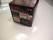 SIGMA 55 - 200 MM F 4 - 5.6 DC FOR NIKON AF-D