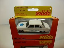 SOLIDO 1306  PEUGEOT 504 AMBULANCE - WHITE 1:43 - VERY GOOD IN BOX