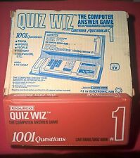 1978 Coleco Quiz Wiz Electronic Game in original box with cartridge/quiz book #1