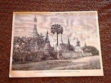 Una Pagoda Birmana Disegno di Della Valle