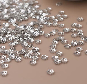 6/8mm 10000pcs gold Silver Plated Flower Bead Caps jewelry Accessories