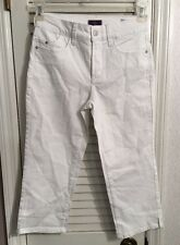NWOT Not Your Daughters Jeans NYDJ White Crop Jeans Size 0