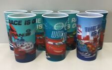 DISNEY CARS KIDS TALL LENTICULAR DRINKING CUPS X 7 UNITS