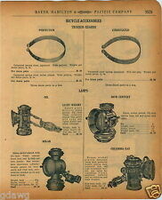 1920 PAPER AD Bicycle Lamp Oil Solar 20th Century Columbia Liberty Parts Repair