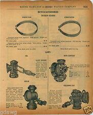 1920 PAPER AD Bicycle Lamp Oil Solar 20th Century Columbia Liberty Parts Repair