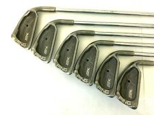 PING ISI Karsten Black Dot Irons 3 4 6 7 8 9 Golf Clubs JZ Stiff Steel Shaft