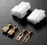 T-Type 2 Pin DC Power Connector Plug for VHF/UHF Kenwood Yaesu Icom Radio