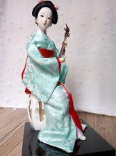 Oriental Japanese Geisha kabuki Japan Geigi Girl Humanoid Statue Sitting doll