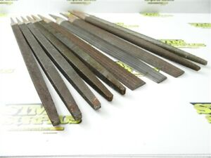 """LOT OF 10 NEW-OLD STOCK ASSORTED HAND FILES 14"""" FILE LENGTHS GROBET NICHOLSON"""