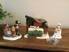 Dept 56 Dickens Heritage Village Christmas Pudding Costermonger #58408 Set Of 3
