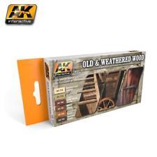AK Peinture Acrylique Set vieux et Weathered Wood VOL.1 Couleurs Set