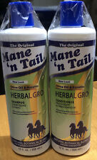 New Twin Pack Mane 'N Tail Herbal Gro Shampoo and conditioner  355ml Each