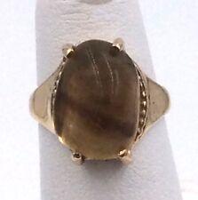 10k Yellow Gold Amber Ring Size 3.25 3.8grams
