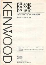 Kenwood Service Anleitung Manual DP-3010 2010 1510    B1100
