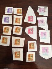 Assorted Stamps from Hong Kong - unsoaked on paper
