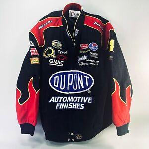 Vintage Chase Authentics Jeff Gordon 24 Nascar Logo Jacket 4XL Red Flames Dupont