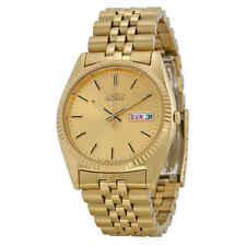 Seiko Vestido de día y Fecha Dial Dorado Reloj para hombres SGF206